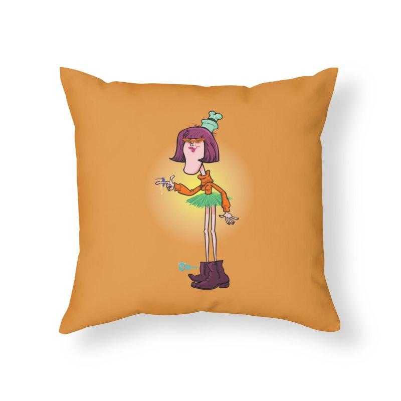 Non Conformist #11 Non Conformist With Her Pet Hummingbird Home Throw Pillow by JoeCorrao4EA's Artist Shop