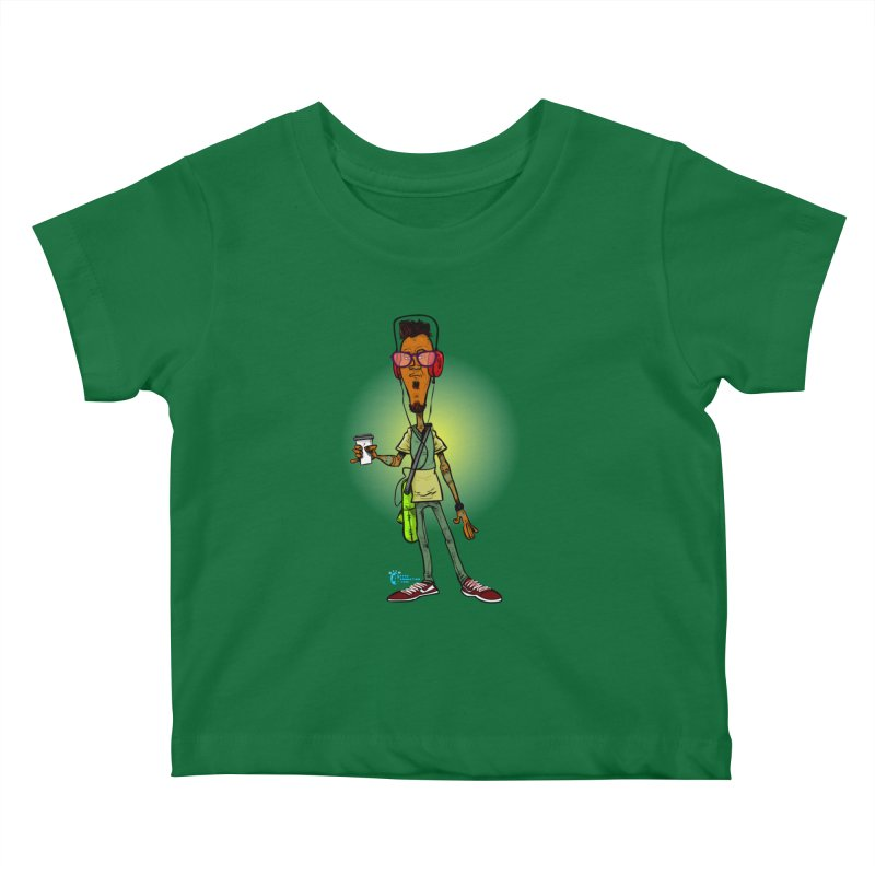 Non Conformist #13 Non Conformist With Headphones Kids Baby T-Shirt by JoeCorrao4EA's Artist Shop