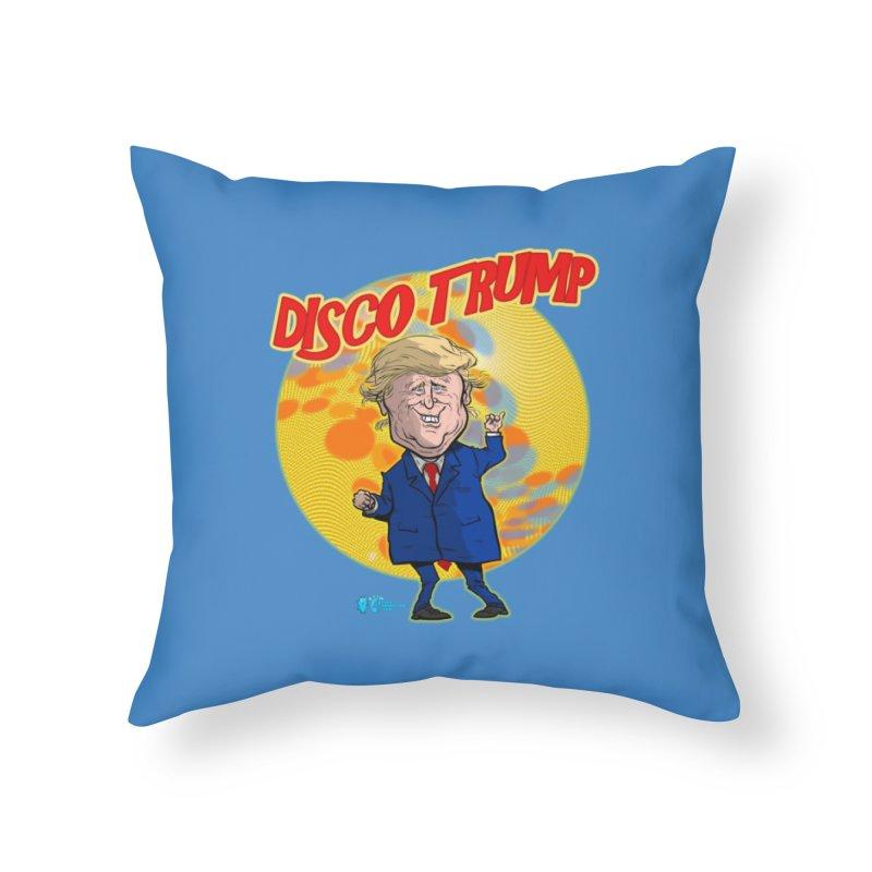 Disco Trump Home Throw Pillow by JoeCorrao4EA's Artist Shop