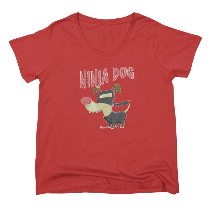 Ninja Dog Women's Scoop Neck by JoeCorrao4EA's Artist Shop