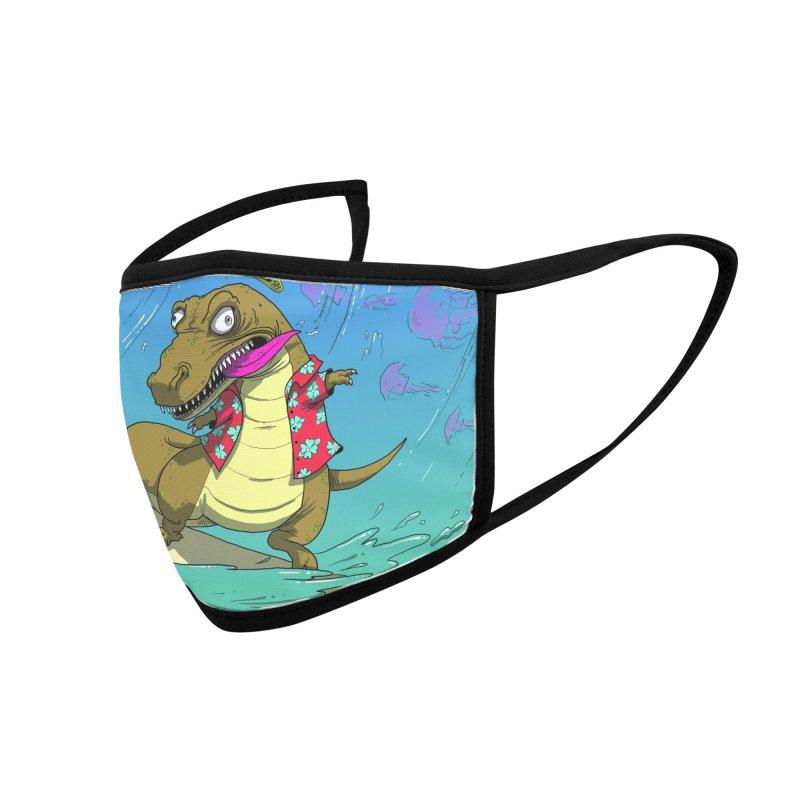 Hawaiian Dinosaur Accessories Face Mask by JoeMarrcinekBand's Artist Shop