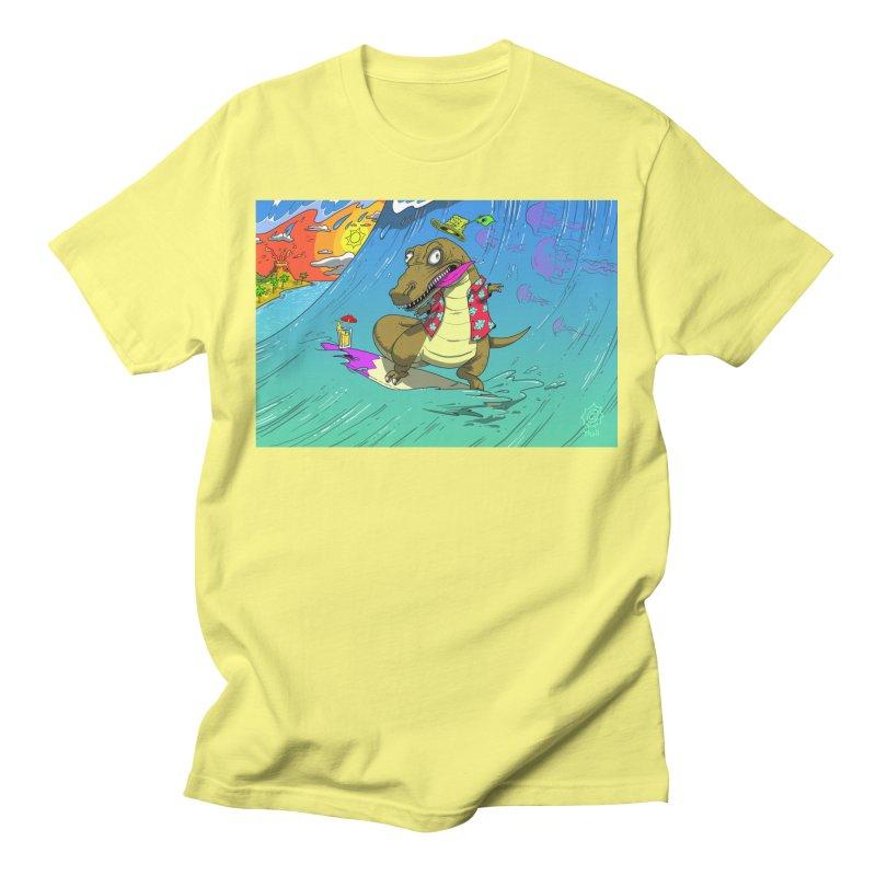 Hawaiian Dinosaur Men's T-Shirt by JoeMarrcinekBand's Artist Shop