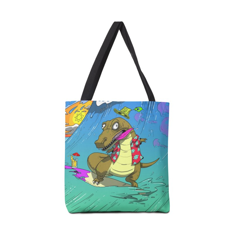 Hawaiian Dinosaur Accessories Bag by JoeMarrcinekBand's Artist Shop