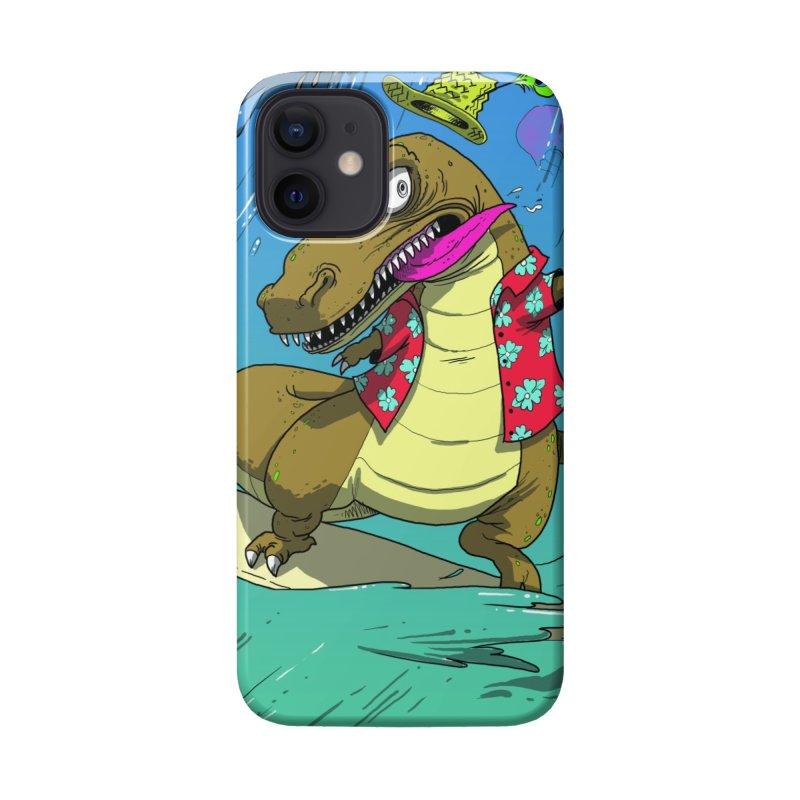 Hawaiian Dinosaur Accessories Phone Case by JoeMarrcinekBand's Artist Shop