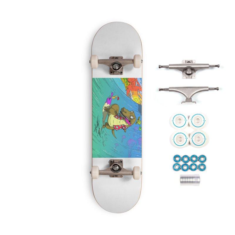 Hawaiian Dinosaur Accessories Skateboard by JoeMarrcinekBand's Artist Shop