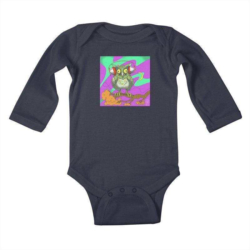 Night Owl Kids Baby Longsleeve Bodysuit by JoeMarrcinekBand's Artist Shop