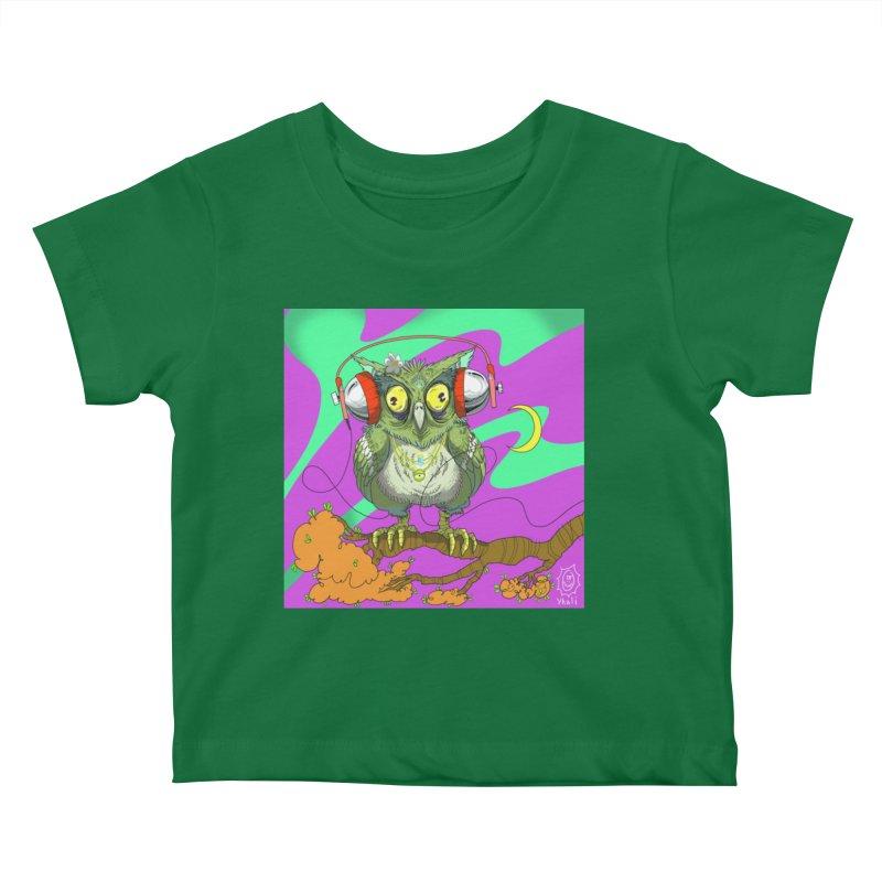 Night Owl Kids Baby T-Shirt by JoeMarrcinekBand's Artist Shop