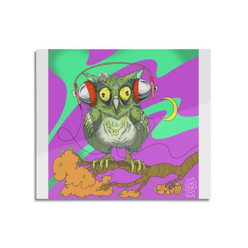 Night Owl Home Mounted Aluminum Print by JoeMarrcinekBand's Artist Shop