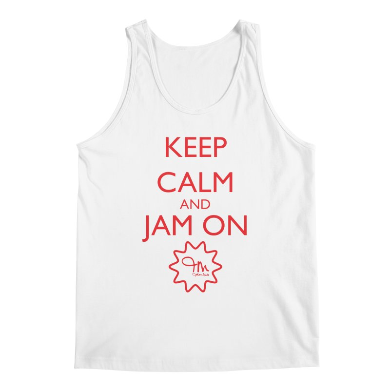 Jam on (RED) Men's Tank by JohariMade's Artist Shop