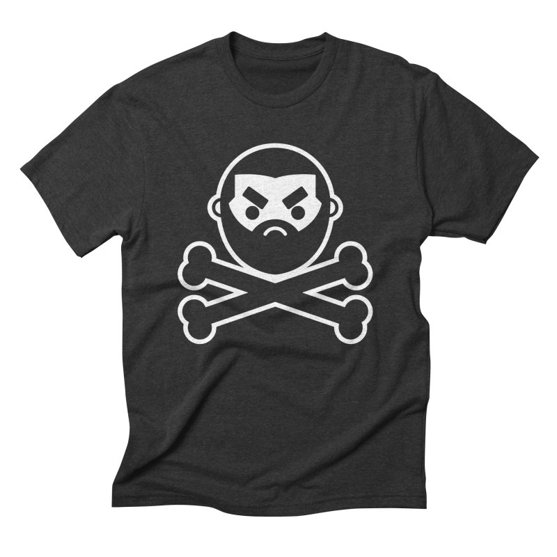 John Chaos Crossbones Men's Triblend T-Shirt by John Chaos Sideshow Official Store