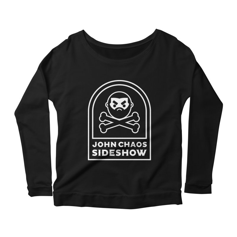John Chaos Sideshow Tombstone Women's Scoop Neck Longsleeve T-Shirt by John Chaos Sideshow Official Store
