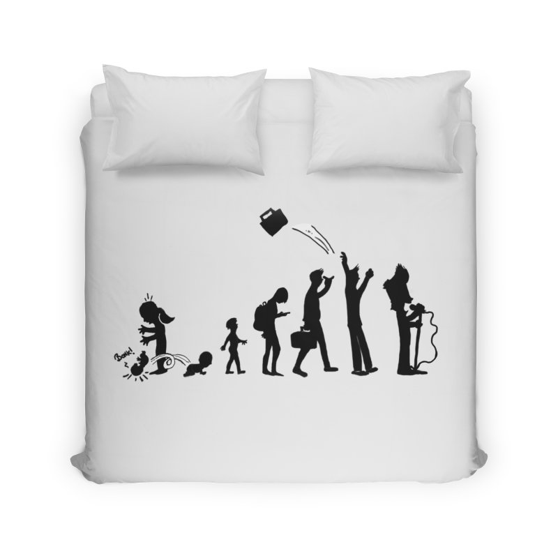 Comic Evolution Home Duvet by John Poveromo's Artist Shop