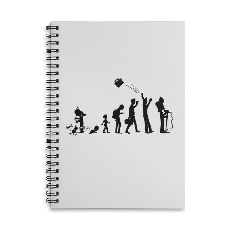 Comic Evolution Accessories Lined Spiral Notebook by John Poveromo's Artist Shop