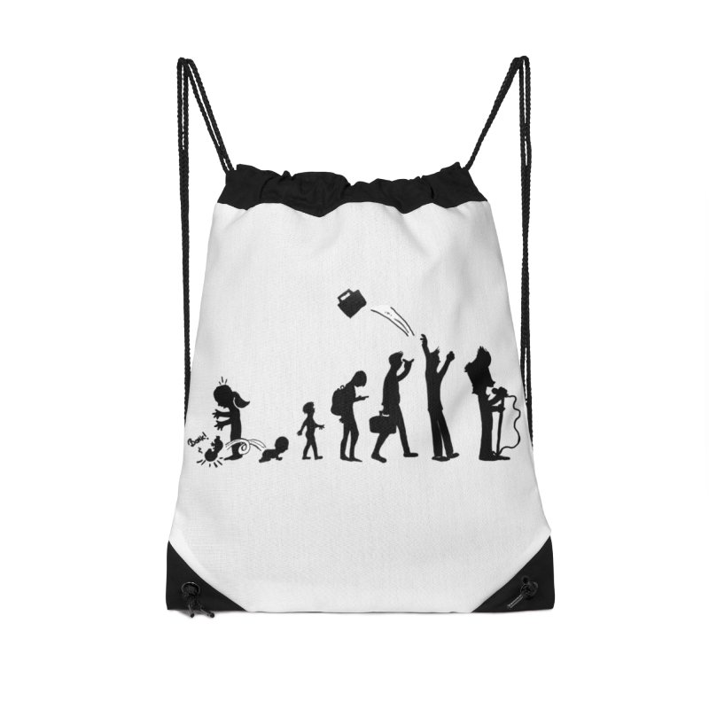 Comic Evolution Accessories Drawstring Bag Bag by John Poveromo's Artist Shop