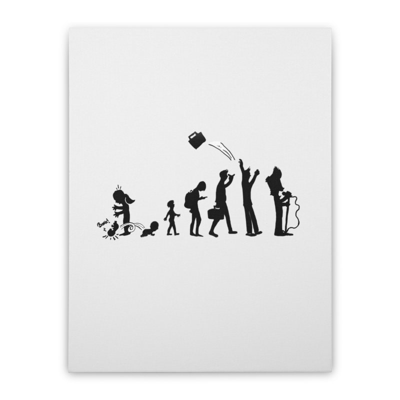 Comic Evolution Home Stretched Canvas by John Poveromo's Artist Shop