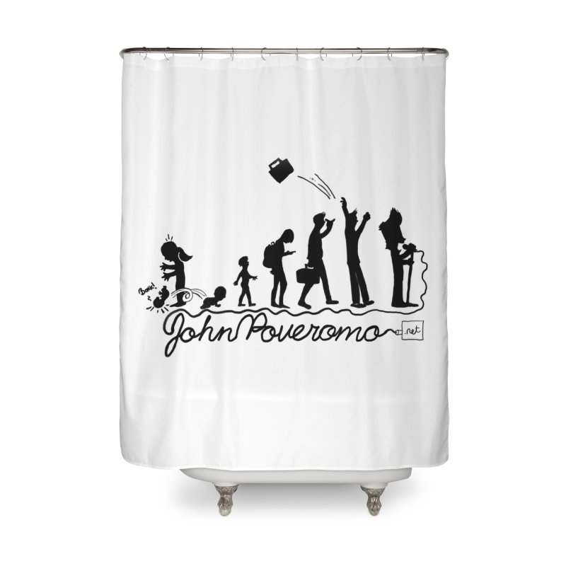 Comic Evolution (Dot Net Edition) Home Shower Curtain by John Poveromo's Artist Shop
