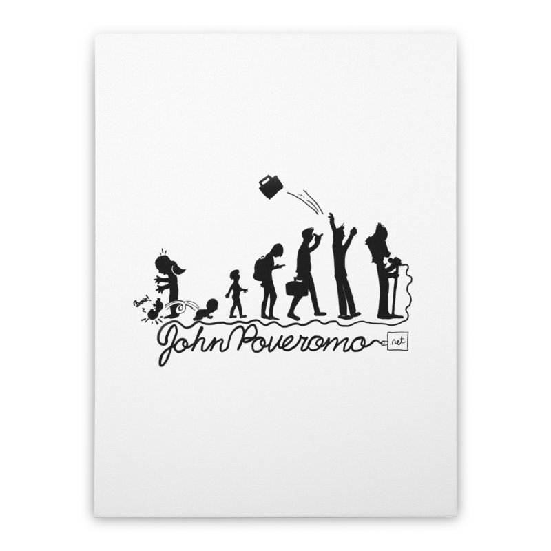 Comic Evolution (Dot Net Edition) Home Stretched Canvas by John Poveromo's Artist Shop