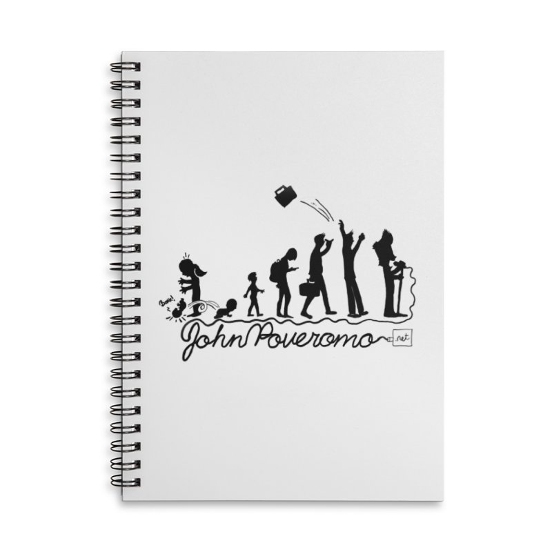 Comic Evolution (Dot Net Edition) Accessories Lined Spiral Notebook by John Poveromo's Artist Shop