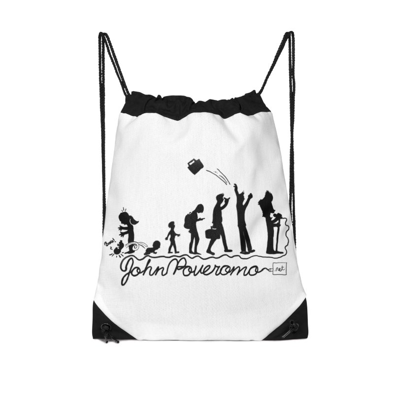 Comic Evolution (Dot Net Edition) Accessories Drawstring Bag Bag by John Poveromo's Artist Shop