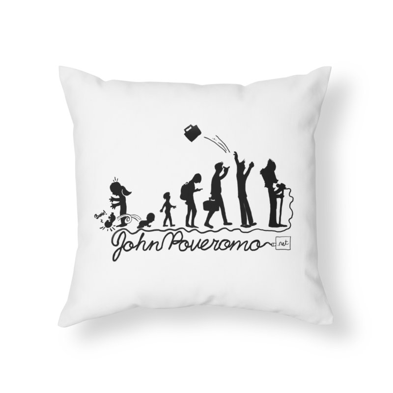 Comic Evolution (Dot Net Edition) Home Throw Pillow by John Poveromo's Artist Shop