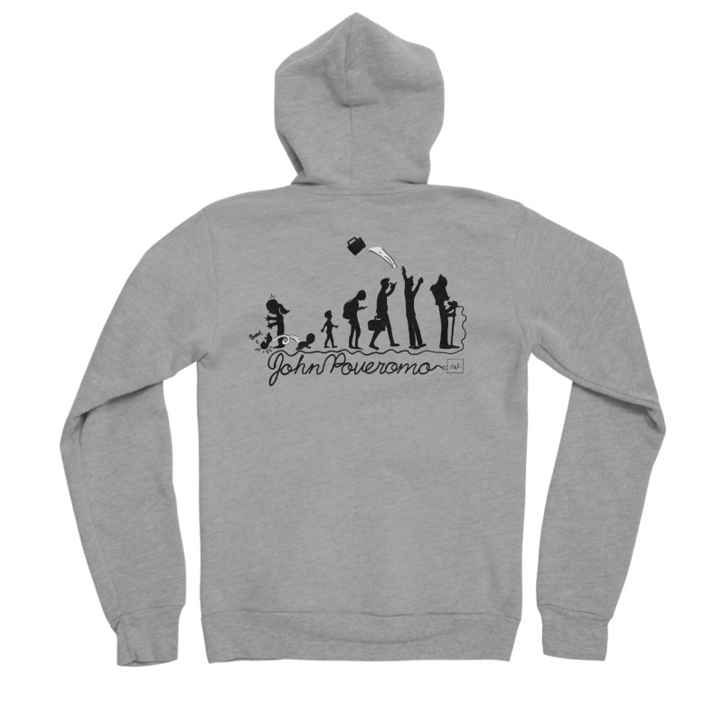 Comic Evolution (Dot Net Edition) Men's Sponge Fleece Zip-Up Hoody by John Poveromo's Artist Shop