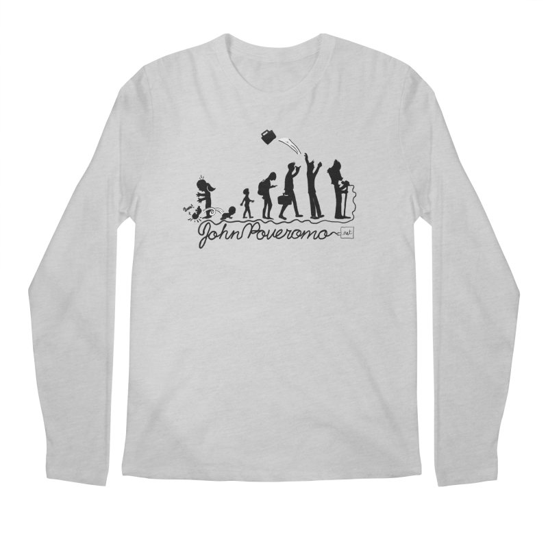 Comic Evolution (Dot Net Edition) Men's Regular Longsleeve T-Shirt by John Poveromo's Artist Shop