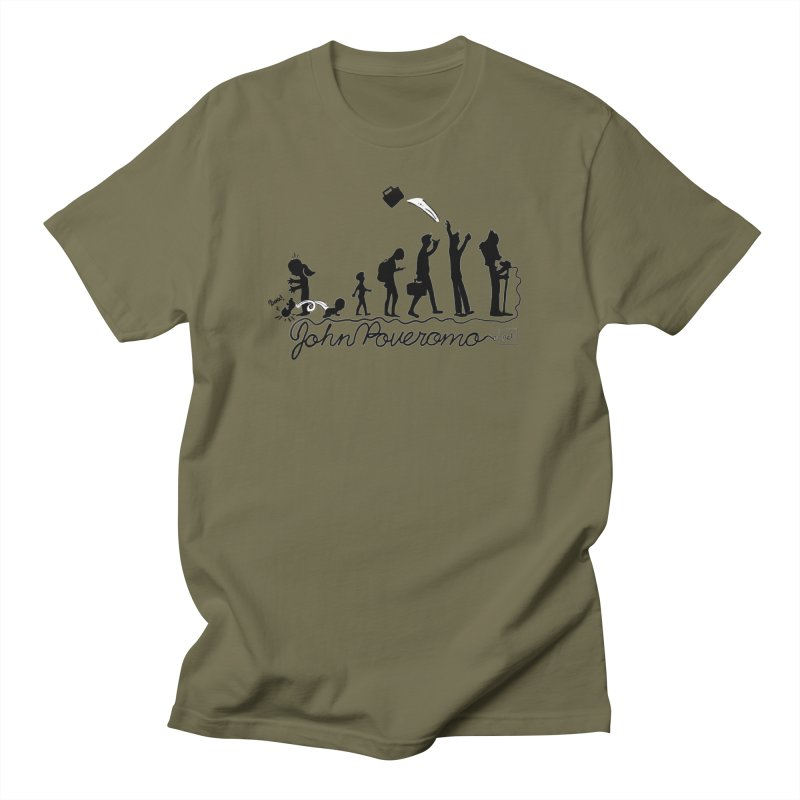 Comic Evolution (Dot Net Edition) Men's Regular T-Shirt by John Poveromo's Artist Shop