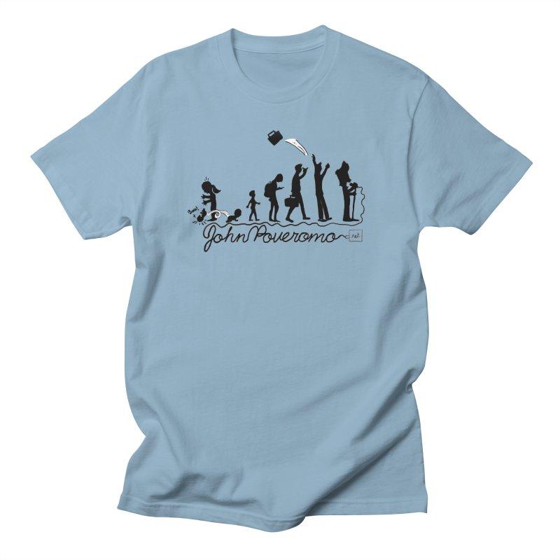 Comic Evolution (Dot Net Edition) Men's Regular T-Shirt by John Poveromo's Artist Shop
