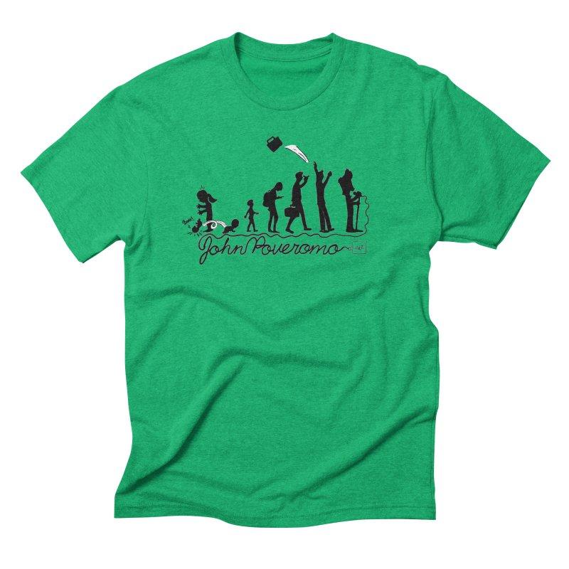 Comic Evolution (Dot Net Edition) Men's Triblend T-Shirt by John Poveromo's Artist Shop