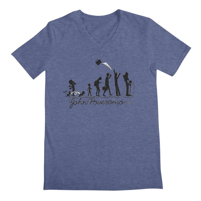 Comic Evolution (Dot Net Edition) Men's Regular V-Neck by John Poveromo's Artist Shop