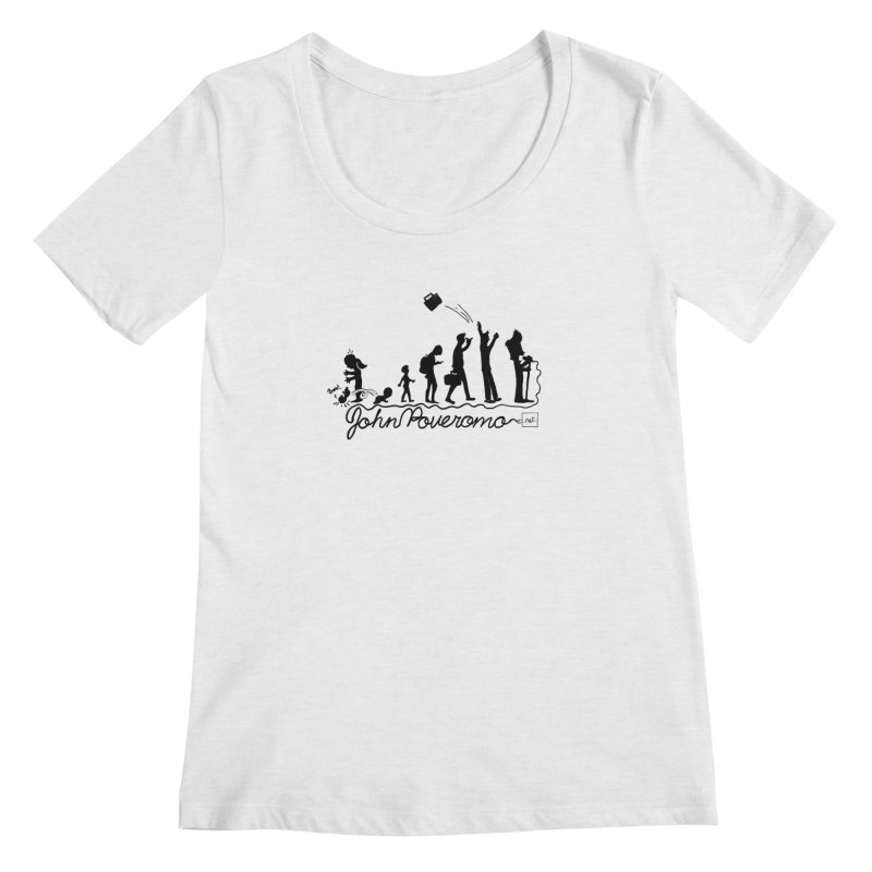 Comic Evolution (Dot Net Edition) Women's Scoop Neck by John Poveromo's Artist Shop