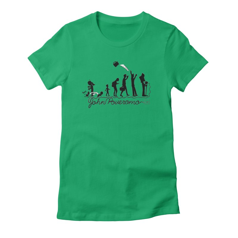 Comic Evolution (Dot Net Edition) Women's Fitted T-Shirt by John Poveromo's Artist Shop