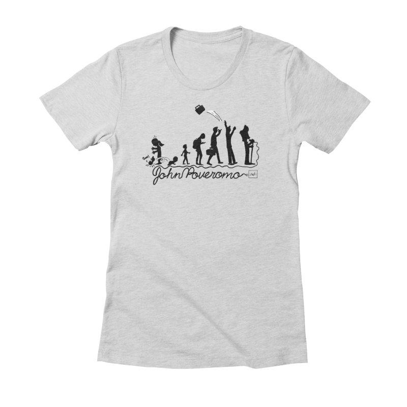 Comic Evolution (Dot Net Edition) Women's Fitted T-Shirt by John Poveromo's Artist Shop