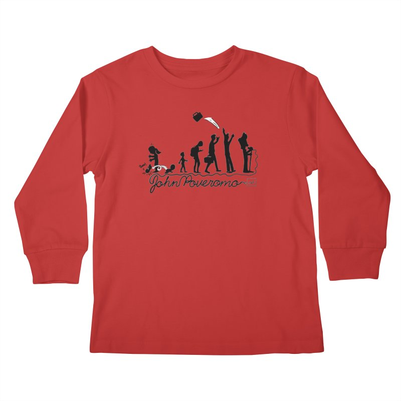 Comic Evolution (Dot Net Edition) Kids Longsleeve T-Shirt by John Poveromo's Artist Shop