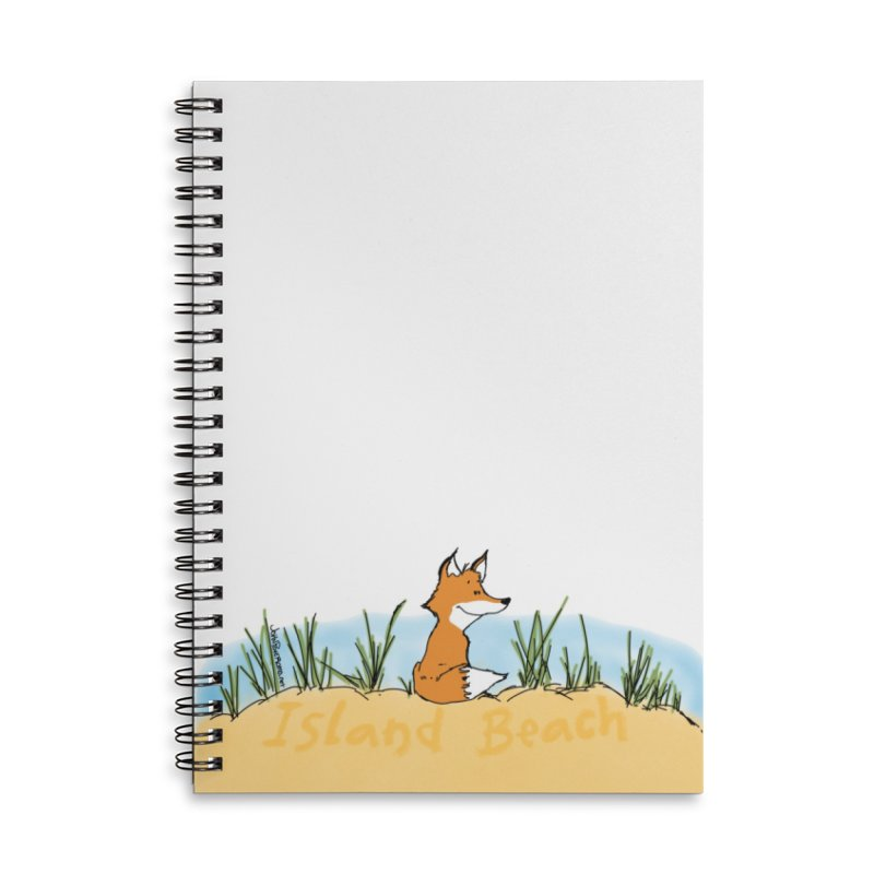 Zero Fox Given Accessories Lined Spiral Notebook by John Poveromo's Artist Shop