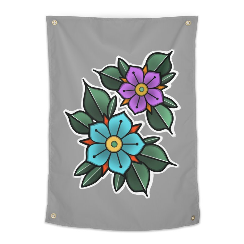 Traditional Flowers Home Tapestry by JohnnyPagoda's Artist Shop