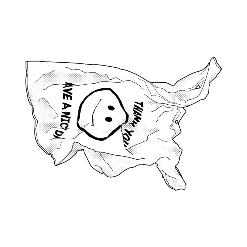 United States of Plastic Men's T-Shirt by Jon Gerlach's Artist Shop