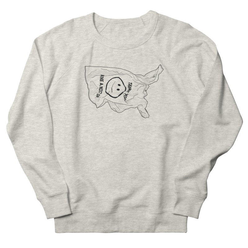 United States of Plastic Women's French Terry Sweatshirt by Jon Gerlach's Artist Shop