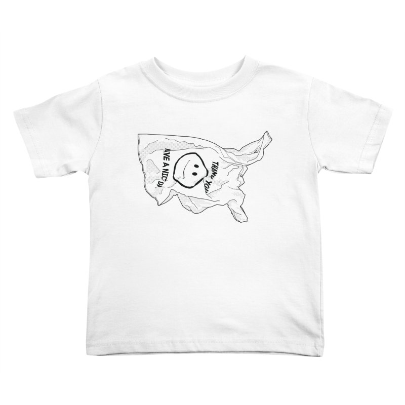 United States of Plastic Kids Toddler T-Shirt by Jon Gerlach's Artist Shop