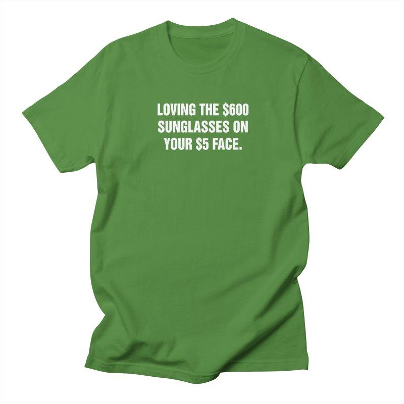 "SIDE EYE/""Five Dollar Face"" (White) Men's Regular T-Shirt by Josh Sabarra's Shop"
