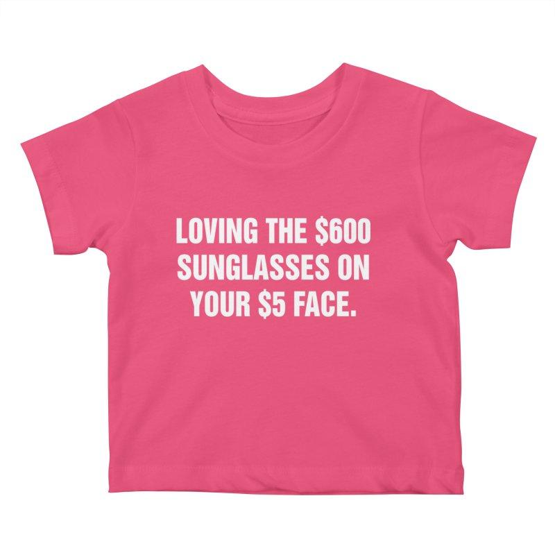 """SIDE EYE/""""Five Dollar Face"""" (White) Kids Baby T-Shirt by Josh Sabarra's Shop"""