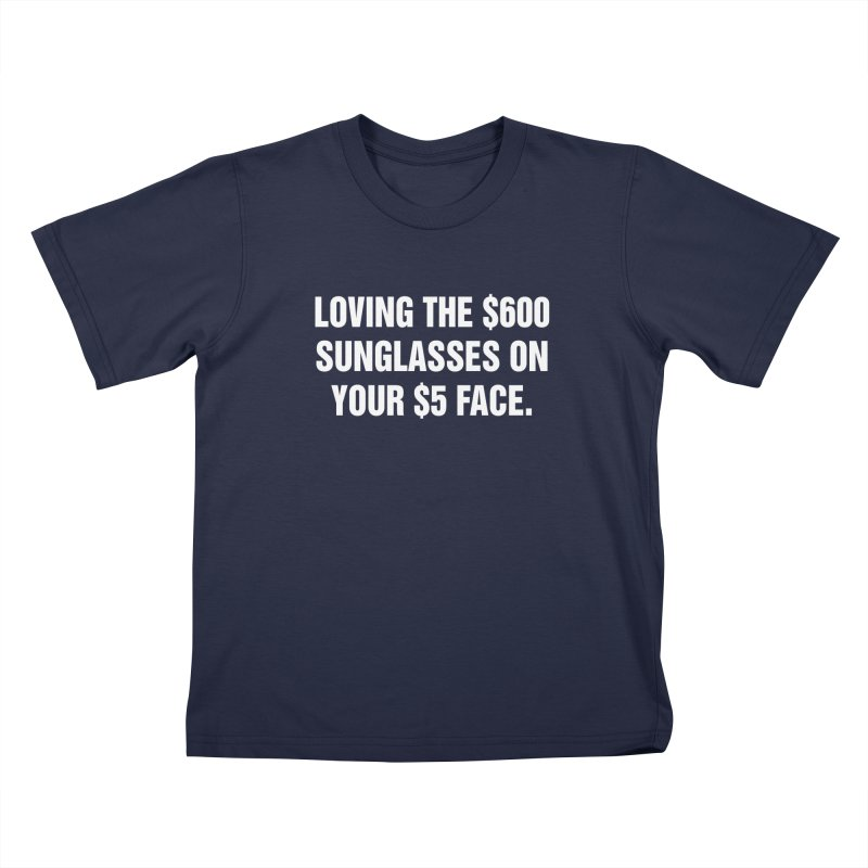 "SIDE EYE/""Five Dollar Face"" (White) Kids T-Shirt by Josh Sabarra's Shop"