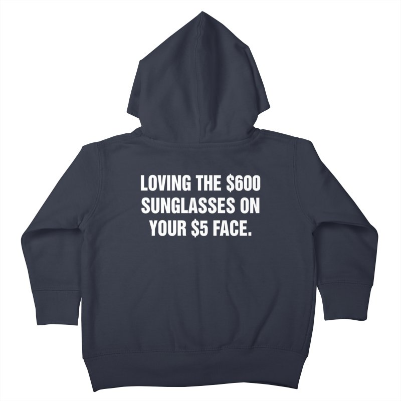 "SIDE EYE/""Five Dollar Face"" (White) Kids Toddler Zip-Up Hoody by Josh Sabarra's Shop"