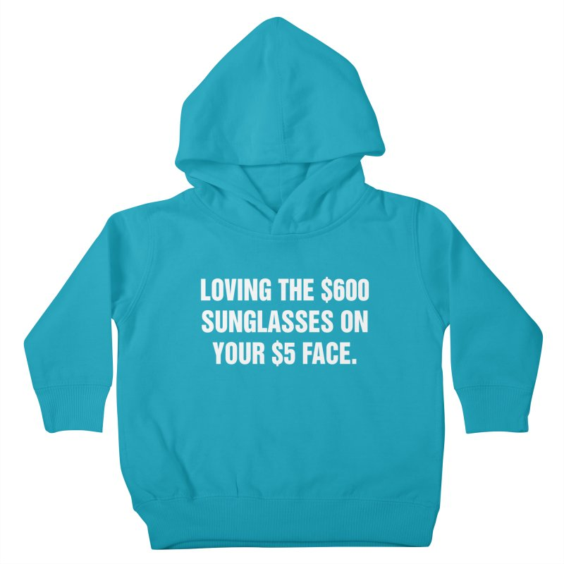 "SIDE EYE/""Five Dollar Face"" (White) Kids Toddler Pullover Hoody by Josh Sabarra's Shop"