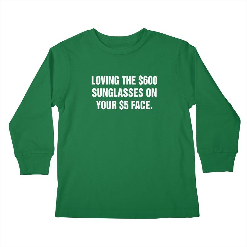 "SIDE EYE/""Five Dollar Face"" (White) Kids Longsleeve T-Shirt by Josh Sabarra's Shop"