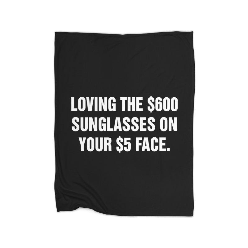 """SIDE EYE/""""Five Dollar Face"""" (White) Home Fleece Blanket Blanket by Josh Sabarra's Shop"""