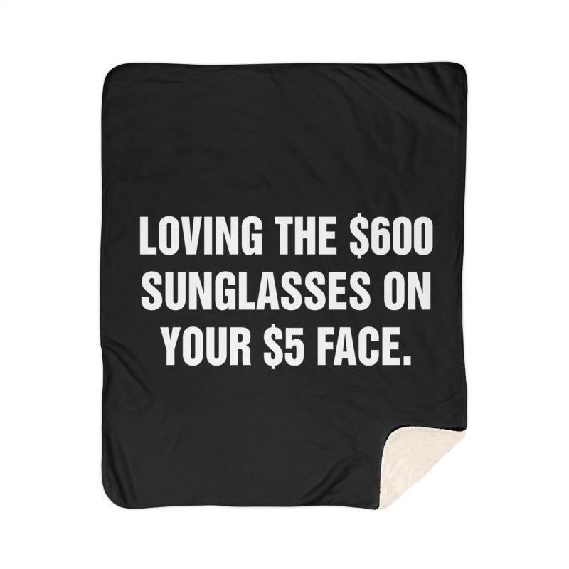 "SIDE EYE/""Five Dollar Face"" (White) Home Blanket by Josh Sabarra's Shop"