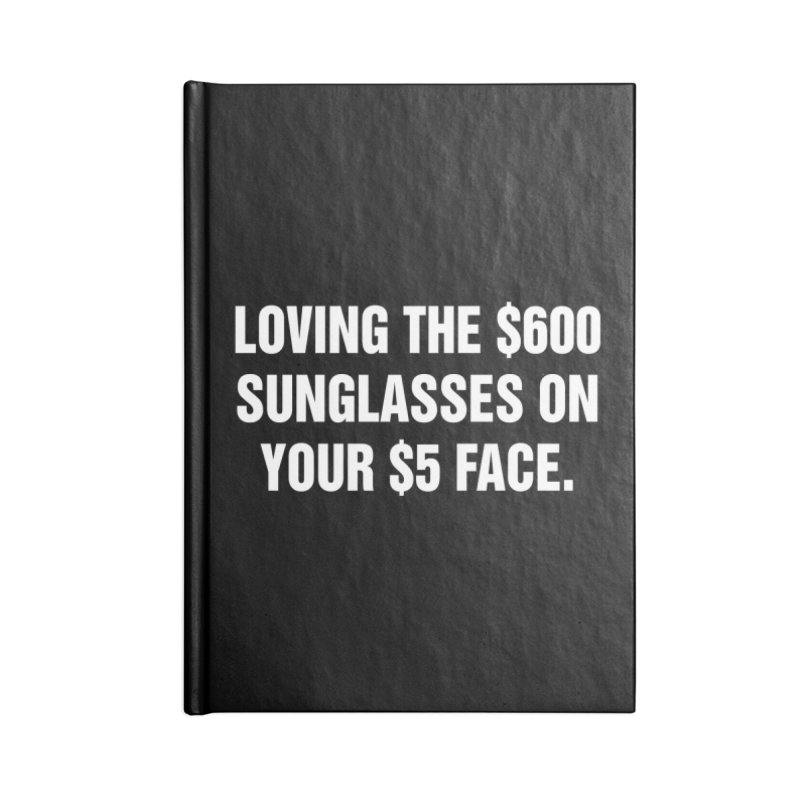 "SIDE EYE/""Five Dollar Face"" (White) Accessories Lined Journal Notebook by Josh Sabarra's Shop"