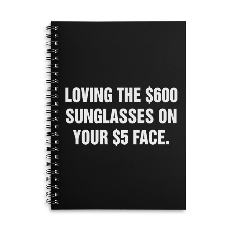 "SIDE EYE/""Five Dollar Face"" (White) Accessories Lined Spiral Notebook by Josh Sabarra's Shop"