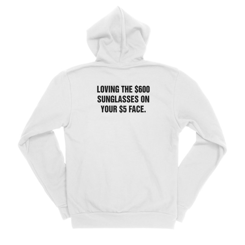 "SIDE EYE/""Five Dollar Face"" (Black) Men's Zip-Up Hoody by Josh Sabarra's Shop"